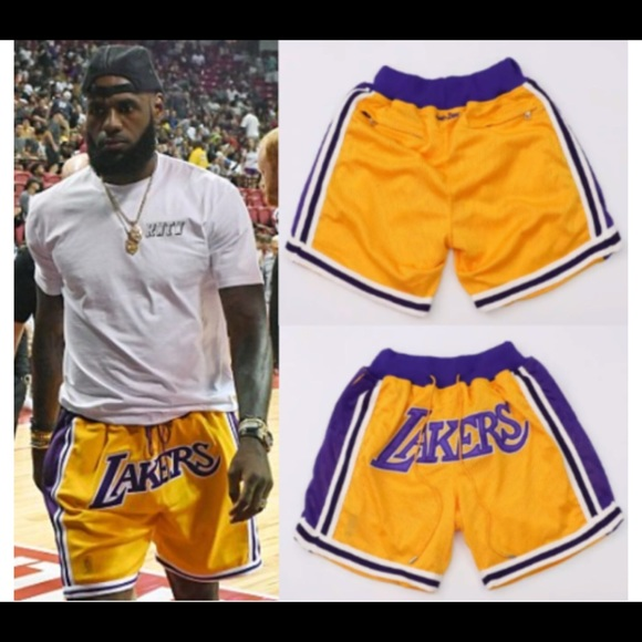 competitive price d4c48 2456c Lakers Lebron James baskell ball Shorts NWT